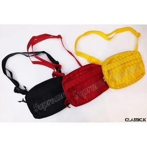 【現貨折後5080】2018 秋冬 Supreme Shoulder Bag 小肩包 小包 Logo 5代 黑黃紅 SB001