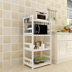 34層不銹鋼廚房置物架落地多層微波爐烤箱置物架放鍋架廚房收納架