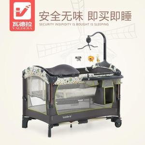 嬰兒床便攜式可摺疊嬰兒床多功能寶寶床bb床拼接大床新生兒搖床 小明同學NMS