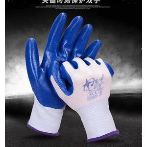 丁晴橡膠勞保防護手套浸膠耐磨
