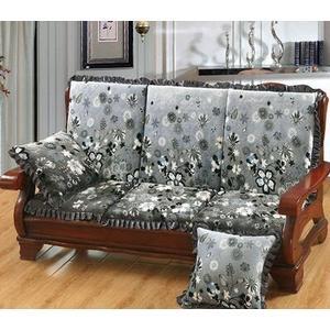 椅墊 (單座)可拆洗實木沙發墊防滑加厚海綿坐墊三人坐帶靠