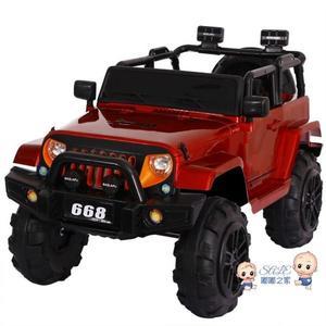 電動車 兒童電動車小孩寶寶可坐雙人超大號四輪四驅電動汽車帶遙控越野車T 3色