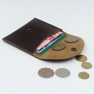森雅誠品 沒有名字手作包 創意零錢包女瘋馬皮男迷你零錢包簡約硬幣包卡包