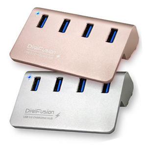 伽利略 USB3.0 4埠 充電 HUB 鋁合金 附變壓器 U3H04FC