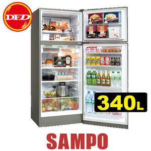 SAMPO 聲寶 SR-A34D(S3) 變頻冰箱系列 340L 負離子抗菌 雙脫臭 公司貨 SRA34D ※運費另計(需加購)