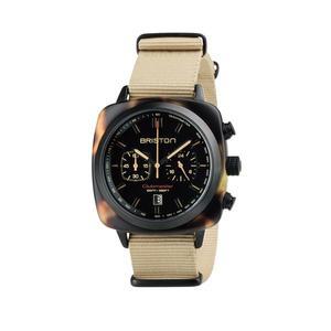 BRISTON 手錶 原廠總代理  18142-PBAM-TSS-5-NK 琥珀棕 時尚帆布錶帶 男女 生日情人節禮物