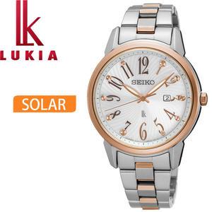【萬年鐘錶】SEIKO LUKIA 林依晨代言 太陽能  不鏽鋼錶帶 女錶 32mm  SUT298J1 (V137-0CG0KS)