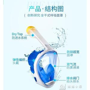 潛水面罩成人兒童全干式浮潛面罩三寶近視全臉呼吸器裝備面鏡工具 全網最低價