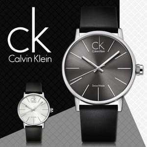 CK手錶專賣店 K7621107男錶 石英 大錶徑 黑 中性錶 扣帶式 真皮錶帶 礦物抗磨玻璃
