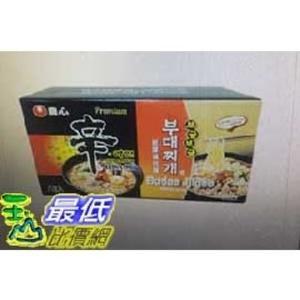 [COSCO代購]  農心 拉麵組合 部隊鍋麵X4入+頂級辛拉麵 兩組入 _W115014