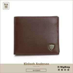 Kinloch Anderson 金安德森 皮夾 單色優質男 咖啡色 牛皮短夾 左右翻短夾  KA53304  MyBag得意時袋