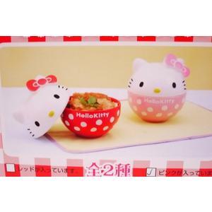 ♥小花花日本精品♥ Hello Kitty 陶瓷湯碗 泡麵碗 餐具 悶鍋 紅色大臉水玉11120308