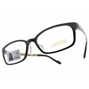 PIOVINO 光學眼鏡 PVIN3010 P3 (黑-金黃) 林依晨代言 記憶塑鋼熱銷款  # 金橘眼鏡