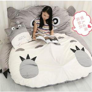 超大龍貓床墊雙人單人睡袋卡通榻榻米懶人沙發YG-10014
