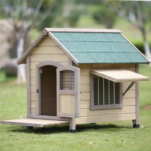 狗屋戶外室內防水可拆洗實木狗屋金毛泰迪大型犬中型犬小型犬狗窩 DF