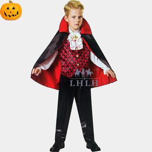 兒童萬聖節服裝 吸血鬼男童裝伯爵表演造型服