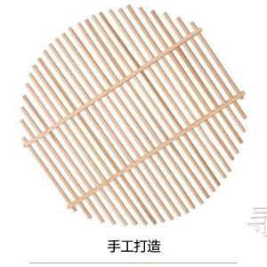 竹篦子竹蒸片家用蒸饃熱饅頭架子圓形無金屬柳釘塑料蒸鍋蒸架蒸格  英賽爾3C數碼店