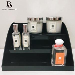 ❤️️【鋼琴黑-香水收納架】美得像專櫃 香氛蠟燭擴香收納 壓克力收納櫃 黑色 化妝櫃