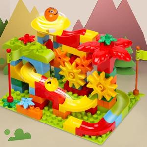 兒童積木玩具拼裝益智5大顆粒3-6周歲0男孩子1-2滑道女7兼容樂高8 喵小姐