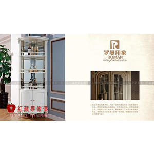 [ 紅蘋果傢俱 ] LM-318 拉菲莉亞系列三角酒櫃 櫥櫃 置物櫃 收納櫃 數千坪展示