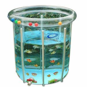 嬰兒游泳池家用新生兒童寶寶游泳池充氣保溫透明支架游泳池洗澡桶T