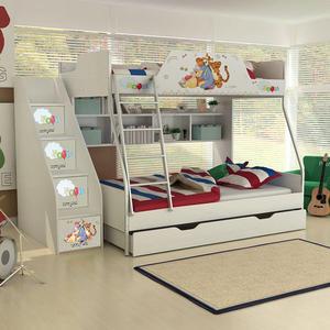 [首雅傢俬] MIT 迪士尼 雙人 上下舖 維尼 高低床 雙層床 兒童床 書櫃床 上下床