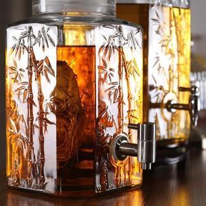 泡酒瓶帶龍頭10斤20斤泡酒玻璃瓶釀酒罐泡藥酒壇子酵素玻璃密封罐  HM 居家物語