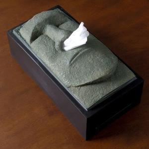 ::bonJOIE:: 美國進口 Tiki moai 摩艾巨石像 抽取式衛生紙盒 復活節島 流鼻涕 紙巾 復活島石像 面紙盒