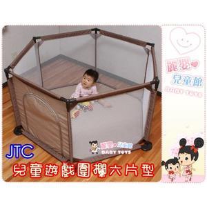 麗嬰兒童玩具館~日本品牌JTC-兒童遊戲圍欄六片型(J-7303).安全圍欄/嬰兒護欄/幼兒圍欄