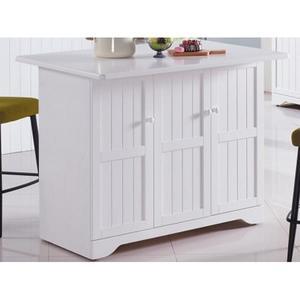 櫥櫃 餐櫃 AM-494-1 葛妮絲純白中島雙面餐櫃【大眾家居舘】