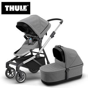 【愛吾兒】瑞典 THULE Thule Sleek推車+睡箱 混紡灰