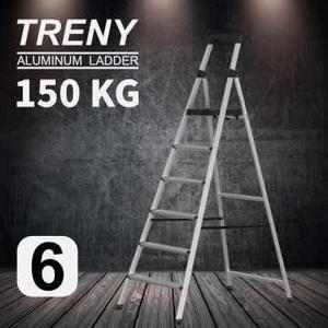 [家事達] TRENY 工作台 六階 鋁梯