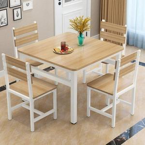 餐桌椅組合小方桌正方形餐桌家用2人4人飯桌飯店小吃店餐桌椅組合