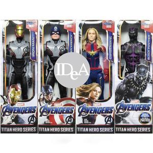 Marvel  復仇者聯盟4 終局之戰  美國隊長 鋼鐵人 黑豹 驚奇隊長 玩具公仔 可轉動