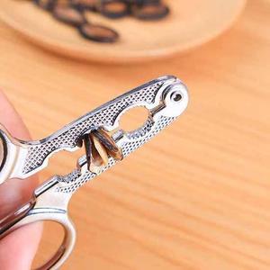 ✭慢思行✭【K50-1】瓜子鉗剝殼器 合金  嗑瓜子 工具 神器 懶人 松子夾 剪刀剝殼器 過年
