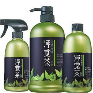 淨覺茶 茶籽蔬果碗盤洗潔液800ml+衛浴清潔液 500ml+地板洗潔液500ml(特惠組)