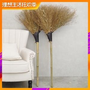 掃把 竹掃把環衛清潔硬毛竹子掃帚手工大掃把室外馬路加厚庭院植物掃把T
