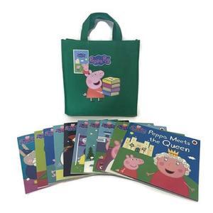 Peppa Pig Bag Collection 佩佩豬旅行袋套裝書(10本平裝故事書+1綠色提袋)