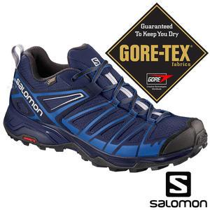 【SALOMON 法國】男 X ULTRA 3 PRIME GTX 低筒登山鞋『藍/合金灰』401280 登山鞋.健行鞋.中筒.高筒