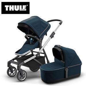 【愛吾兒】瑞典 THULE Thule Sleek推車+睡箱 海軍藍