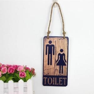 鄉村復古風格toilet廁所洗手間衛生間男女掛牌裝飾門牌