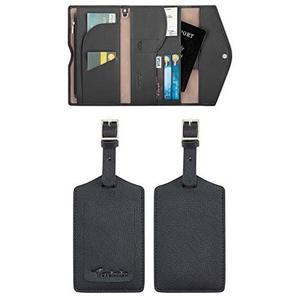 Travelambo-RFID技術,護照旅行錢包(黑色)