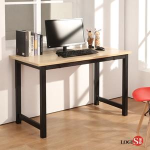 LOGIS 極簡工業風120CM電腦桌桌 鋼製桌腳黑/白 事務桌 餐桌 工作桌 書桌 辦公桌 桌子 LS-612B  LS-612W