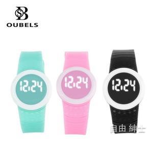 LED手環超薄運動手錶男錶女錶情侶錶兒童學生電子錶 1件免運