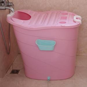 泡澡桶成人摺疊大人洗澡桶浴缸家用塑膠全身兒童大號浴盆浴桶可坐 ATF安妮塔小舖