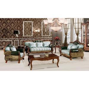 【大熊傢俱】660B玫瑰系列 歐式皮沙發 休閒沙發 雕花 美式皮沙發 歐式沙發  多件沙發組
