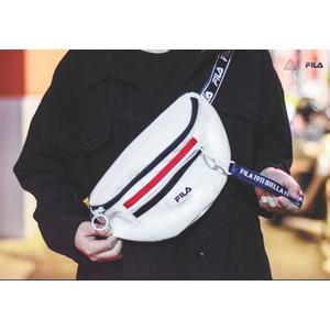 KUMO SHOES-現貨 FILA Hip Packs 黑 白 粉 腰包 小背包 側背 吊飾斜背包 斜肩包  FS3BCA6359X