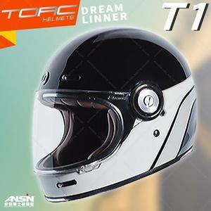 [中壢安信]美國 TORC T-1 T1 彩繪 DREAMLINNER 亮光黑灰 全罩 安全帽 雙D扣 樂高帽 山車帽