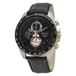 日本精工SEIKO手錶  三眼計時經典配色皮帶男錶 SSB265 男錶 石英錶   原廠保固兩年