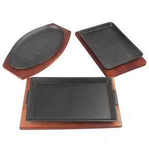 鐵板燒盤-日式加厚鐵板燒盤 家用 長方形  鑄鐵西餐鐵板燒盤家用商用燒烤盤【618好康又一發】